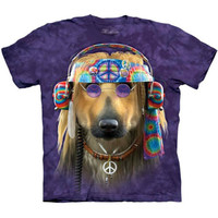 GROOVY DOG Hippie T-Shirt The Mountain Big Face Funny Animal Peace Tee S-5XL NEW