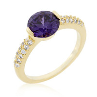 Purple Isabelle Engagement Ring, size : 06