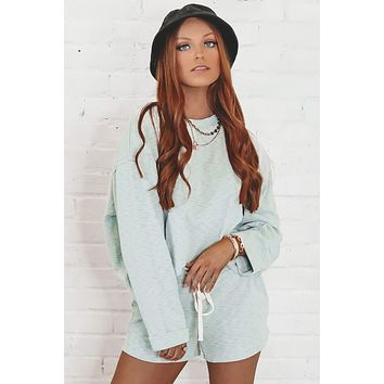 With You Pistachio Knit Sweater Top