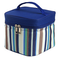 Fashion Lunch Tote Bag With Zipper And Handle Square Blue Bag