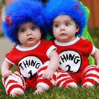 Thing 1 Thing 2 wig, Great for Christmas