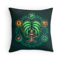 'Dryad' Throw Pillow by likelikes