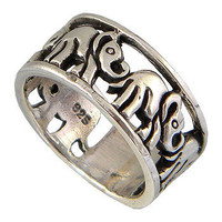 Elephant Sterling Silver Unisex Ring Fit the by jewelkingthai