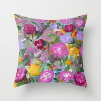 Soft Woven Poplin Pillow Cover,Purple decor, Floral decor,Colourful pillow cases, Fine Art Pillow Cover,Home Decor,16x16, 18x18, 20x20
