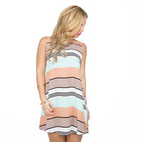 Hill Top Stripe Shift Dress