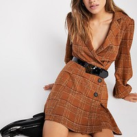 Anna Plaid Mini Dress