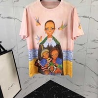 NEW 100% Authentic GUCCI 2018SS AFRICA GIRL T SHIRT   ※008