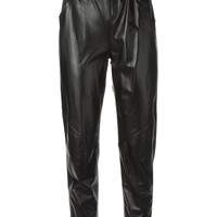 Kenzo lambskin high waisted trousers