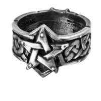 Alchemy Gothic Celtic Theurgy Pentagram Ring