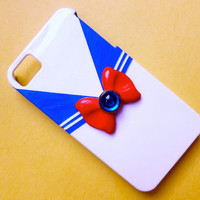 Custom Sailor Moon Inspired iPhone 4 or 4S phone case Hand Sculpted and Painted Sailor Outfit