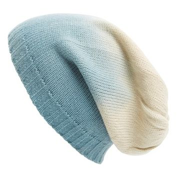 Leith Ombre Slouchy Knit Beanie