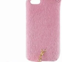 Fashion Cute Fluffy Tail Cat Protective TPU Case Cover for iPhone 5C Black