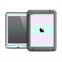 The Light Teal & Purple Sharp Chevron Apple iPad Air LifeProof Nuud Case Skin Set