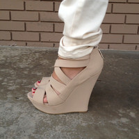 Beige Chico Wedges