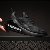 Nike Air Max 270 Triple Black AH8050-005 Sport Running Shoes - Best Online Sale
