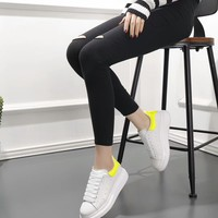 Alexander Mcqueen's world-class classic leather casual shoes yellow