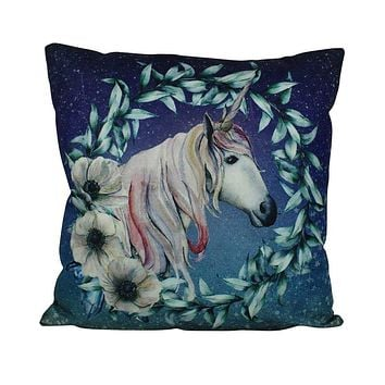 Unicorn | Wreath | Magic | Unicorn Decor | Pillow Cover | Home Decor | Throw Pillows | Happy Birthday | Kids Room Decor | Room Decor