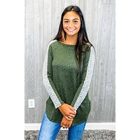 A Girl Like You Olive Sweater Top