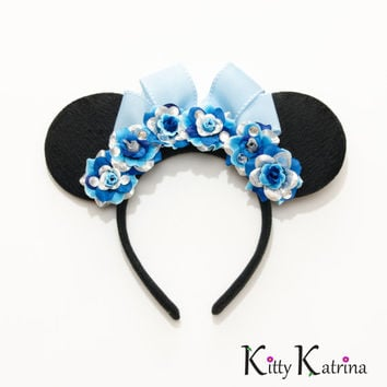 Cinderella Mouse Ears Inspired Headband, Disney Bound, Cinderella Dress, Cinderella Costume, Cinderella Party, Disney Headband, Disneyland