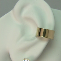 POST Conch Pierced Cartilage Earring 16G Post 14K Gold Filled Ear Cuff  Smooth E1GFSMP16g