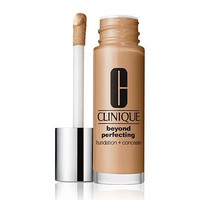 Clinique Beyond Perfecting Foundation + Concealer Makeup, 17 Nutty (M-N), Travel Size .17oz/5ml