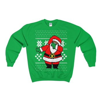 Dabbin Santa Clause Ugly Christmas Sweater Sweatshirt