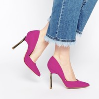 New Look Vic Pink Asymmetric Heeled Court Shoes