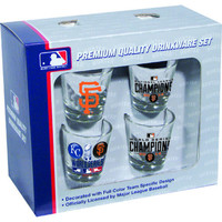 Hunter 2014 World Series Champions San Francisco Giants 4-Piece Collector Shot Glass Set