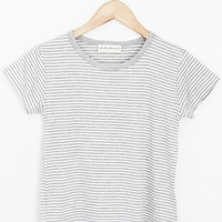 Stripe Cropped Tee