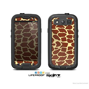 The Simple Vector Giraffe Print Skin For The Samsung Galaxy S3 LifeProof Case
