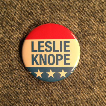 LESLIE KNOPE For President Pinback Button Pin Badge X1 2.25 Inch Handmade New SNL Amy Poehler Parks And Recreation Movement Pinback Buttons