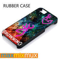 Camo Galaxy Browning iPhone 4/4S, 5/5S, 5C, 6/6 Plus Series Rubber Case