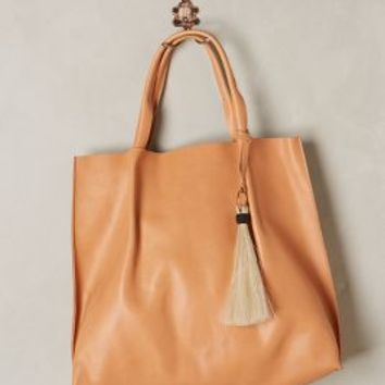 Oliveve Pinched Tote in Brown Size: One Size Bags