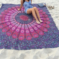 7 Styles Indian Mandala Tapestry Floral Wall Hanging Hippie Tapestries Boho Summer Beach Throw Towel Yoga Mat Tablecloth Bedding