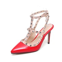 Pointed Toe Pumps Studded High Heels Stiletto Sandals 7577