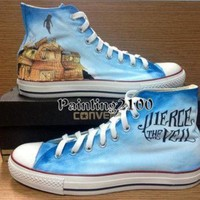 DCCK1IN pierce the veil shoes custom converse hand painted shoes hand paint on converse