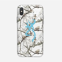Browning Turquoise Chevron iPhone X Case