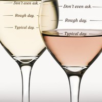 DCI 'Rough Day' Wine Glasses - White (Set of Two)