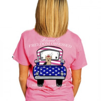 Simply Southern Preppy Collection 'Blessed and Freedom Obsessed' Tee