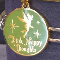 Disney Alex and Ani Parks Tinker Bell Happy Thoughts Charm Gold Finish New