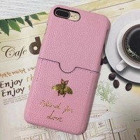 GUCCI Bee pocket type iPhone Phone Cover Case For iphone 6 6s 6plus 6s-plus 7 7plus