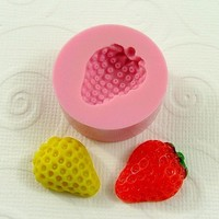 Strawberry Flexible Mini Mold/Mould (20mm) for Crafts, Jewelry, Scrapbooking, Miniature Food (resin,  pmc, Utee, polymer clay) (149)