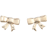 Minor Obsessions Gold Bow Stud Earrings at Barneys.com