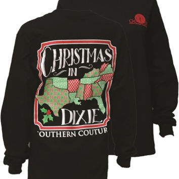Southern Couture Christmas in Dixie Southern Long Sleeve T Shirt