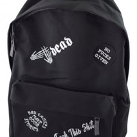 Darkside Clothing No Fucks Given Backpack | Attitude Clothing