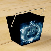 Electric Blue Happy Pumpkin Halloween Goodie Box