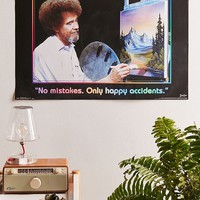 Bob Ross Happy Accidents Poster | Urban Outfitters