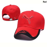 PUMA Summer Popular Women Men Embroidery Sports Sun Hat Baseball Cap Hat Red