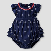Baby Girls' Clipspot Romper - Cat & Jack™ Navy