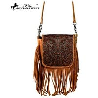 Fab Tooled Leather Cross Body Montana West Bag RLC-L085